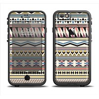 The Tan & Color Aztec Pattern V32 Apple iPhone 6 LifeProof Fre Case Skin Set