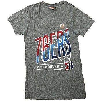 Junk Food Philadelphia 76ers V-Neck Tri Blend Womens T-Shirt