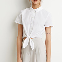 Self-Tie Waist Shirt