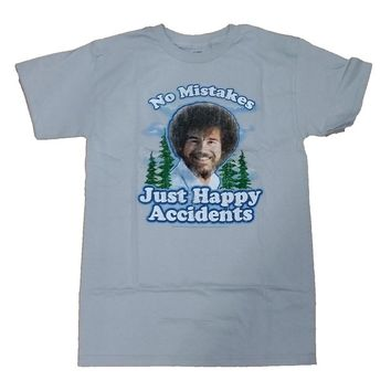 4f6dbbbfdfa4b Bob Ross No Mistakes Just Happy Accidents Graphic T-Shirt