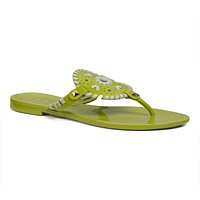 Georgica Jelly Sandal in Lime and White by Jack Rogers