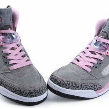 Hot Air Jordan 3.5 Spizike Suede Women Shoes Purple Earth