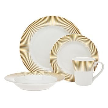 16PC RAVI DINNERWARE AMBER