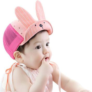 LMF78W Summer Baby Girls Boys Toddler Kids Infant Sun Cotton Cap Cute Sun Beach Hat