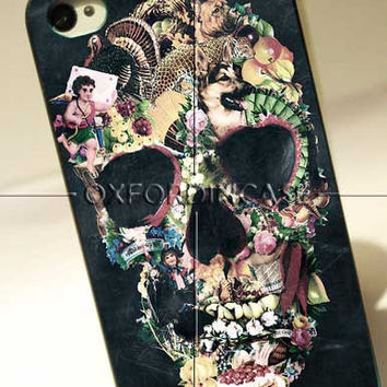 Old Skull Flower - for iPhone 4/4S case iPhone 5 case Samsung Galaxy S2/S3/S4 Case hard case
