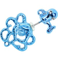 316L Stainless Steel Blue Octopus Cheater Plug