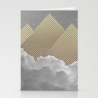 Silence is the Golden Mountain (Stay Gold) Stationery Cards by Soaring Anchor Designs