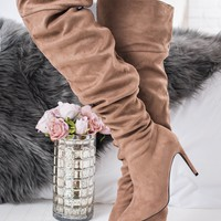 Day Delight Slouchy Boots (Taupe)