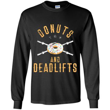 Donuts and Deadlifts T-Shirt Funny Workout Powerlifter Tee