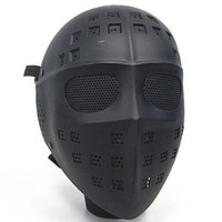 Full Face Hockey Type Airsoft Mesh Goggle Mask Black