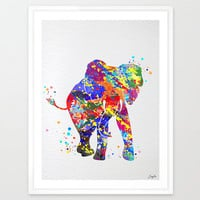 Baby Elephant Watercolor illustration Art Print,Wall Art Poster,Nursery Art Decor Print,Wall Hanging,Kids Art,Wedding,Birthday Gift,No 84