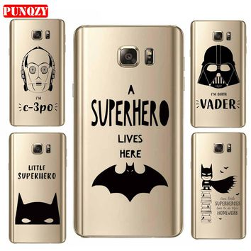 Case For SamSung S7 S8 Plus A7 2017 A5 Mobile Phone Shell Soft Tpu Patterned Superhuman Classic Love Painting Batman Series Cute