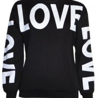 Womans Big Love Logo Sweater Sweatshirt Top:Amazon:Clothing