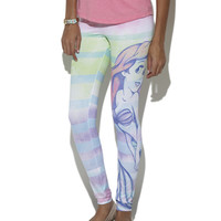 Ariel Soft Stripe Legging  | Shop Bottoms at Wet Seal