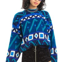 Vintage 80's Trend Basics Geometric Shape Pullover - One Size Fits Many