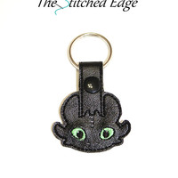 Toothless Snap Tab Key Fob  **** Backpack Charm, Backpack key chain, Dragon Key chain, Party Favor