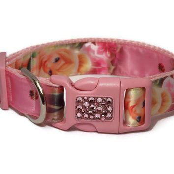 ON SALE Tinker Bell Dog Collar with Swarovski Accents - Ribbon