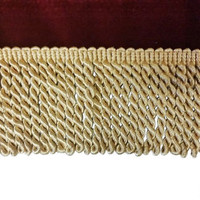 "Luxurious Gold Color Bullion Fringe Designer Trim 3 1/4"" Long Sold By The Yard for edging curtains/cushions/throws/valances/Craft/Upholstery"