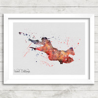 Harry Potter Watercolor Art Poster Print, Wall Art, Home Decor, Boy's Gift, Not Framed, Buy 2 Get 1 Free! [No. 60]