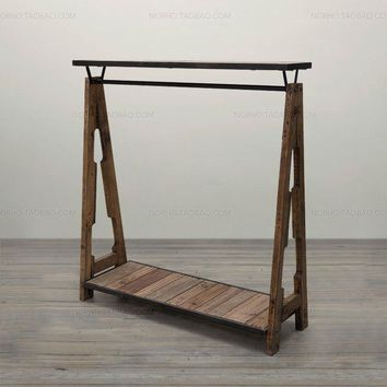 Industry Rustic LOFT Antique Wooden Coat Hanger