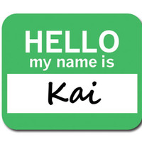 Kai Hello My Name Is Mouse Pad