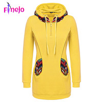 FINEJO 3XL Plus Size Sweatshirt 2016 Women Fashion Patchwork Pullover Hoodie Hoodies Floral Print Long Sleeve Casual Zipper Coat