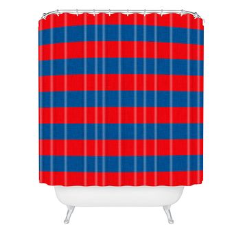 Holli Zollinger Rugby Stripe Shower Curtain