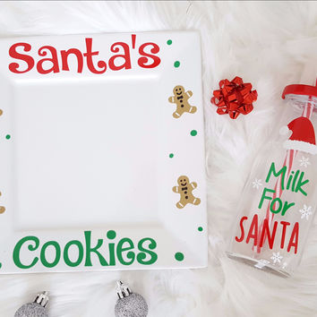 Santa Milk and Cookie Set