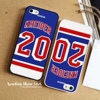 New York Rangers Chris Kreider Jersey Back iPhone Case Cover for iPhone 6 6 Plus 5s 5 5c 4s 4 Case