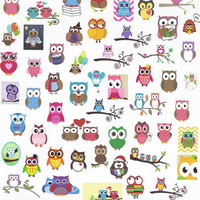 Pre-Cut Mini Owl Stickers for Erin Condren Life Planner