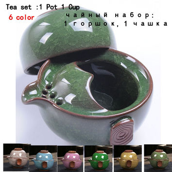 Tea set Include 1 Pot 1 Cup, High quality elegant gaiwan,Beautiful and easy teapot kettle free shipping