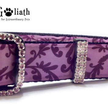 Dog Collar Purple Elegance with Purple by KittyandGoliath on Etsy