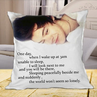 Harry Styles One Direction Quotes on Square Pillow Case