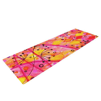 "Ebi Emporium ""Into the Fall"" Orange Pink Yoga Mat"