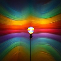 The ORIGINAL Hand-Painted Rainbow Mood-Light Bulb 4 Color Therapy, Night Lights, Parties, Mood Lighting
