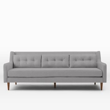 "Crosby 92"" Sofa, Performance Velvet, Moss"