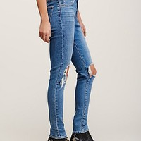 Free People Levi's Rugged Busted Knee Skinny