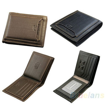 Mens Cow Leather Bifold Wallet Credit/ID Card Holder Slim Purse , man's fashion, cool purse = 1652340932
