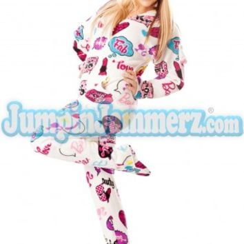 Barbie OMG One Piece Adult Footed Pajamas