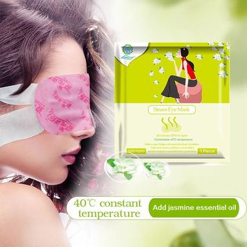 KONGDY Health Care Eye Massage 2 Bags Steam Eye Mask Jasmine Fragrance Warm Generating Moisturizing Dark Eyes Warmer Patch
