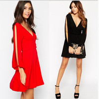 V-neck One Piece Dress [6338949889]