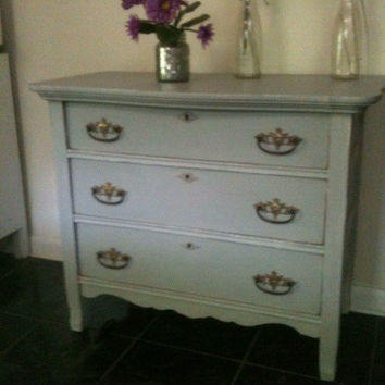 Vintage, Distressed, Dresser, blue,grey
