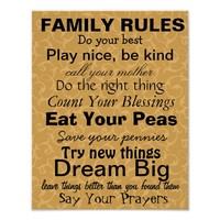 FAMILY RULES #2, Inspiration for a happy family!