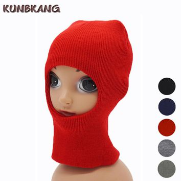New Children Kids Winter Face Mask Warm Sports Knitted Thermal Hat Boys Girl Windproof Winter Mask Hat Cycling Ski Cap Balaclava