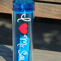 personalized tumbler, military tumbler, navy wife cup, military wife cup, stocking stuffer, holiday gift, acrylic cup, skinny tumbler