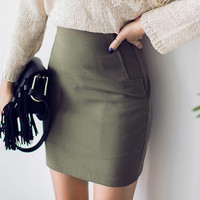 Plain Side Zip Mini Skirt - I know you wanna kiss me. Thank you for visiting CHUU.