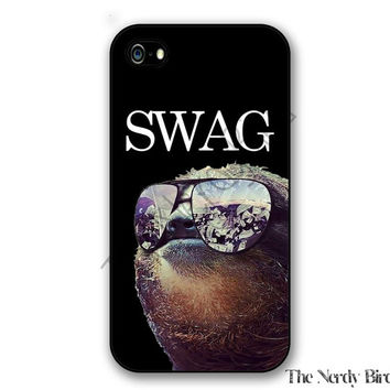 Sloth Swag iPhone 4, 5, 5C, 6 and 6 plus and Samsung Galaxy s3, s4, and s5 Phone Case