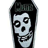 Misfits Skull Coffin Patch Iron On Applique Alternative Glenn Danzig