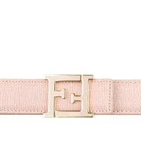 Fendi Women's 8C0496F09F0NDK Pink Leather Belt