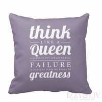 Think Like a Queen Throw Pillow